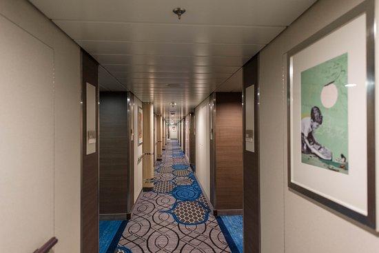Hallways on Harmony of the Seas