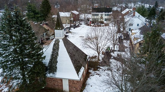 Piscataway, NJ : A snow covered East Jersey Old Town Village