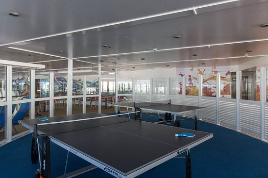 Ping Pong Tables on Harmony of the Seas