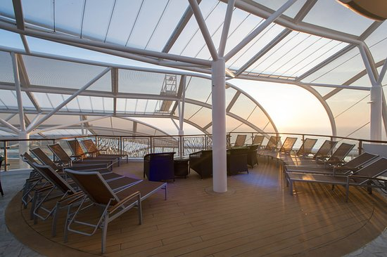 The Solarium on Harmony of the Seas