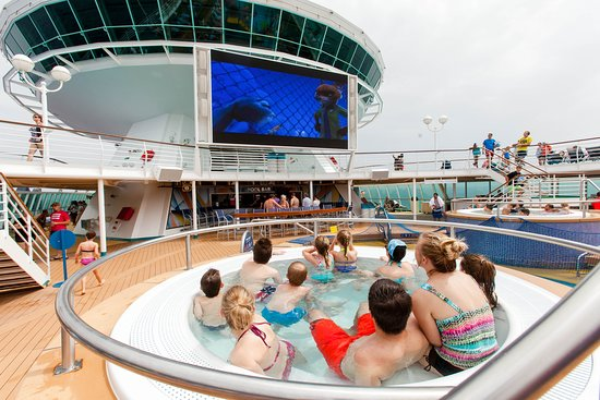 Outdoor Movie Screen on Majesty of the Seas