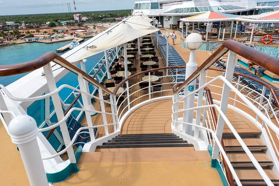 Stairs on Empress of the Seas
