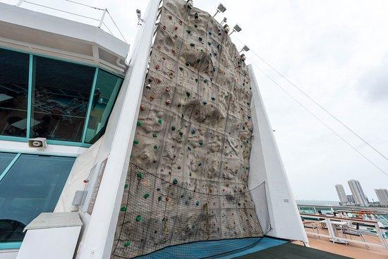 Rock Climbing Wall on Empress of the Seas