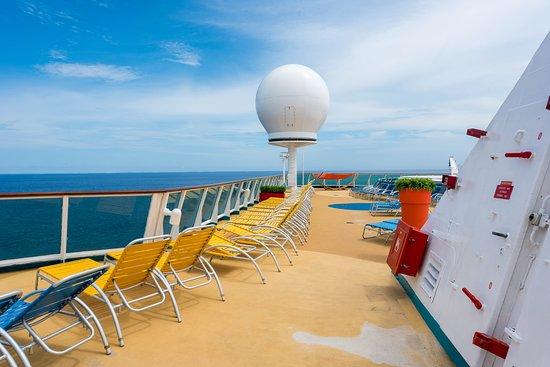 The Sun Decks on Empress of the Seas