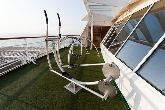 Outdoor Fitness Stations on Crystal Symphony