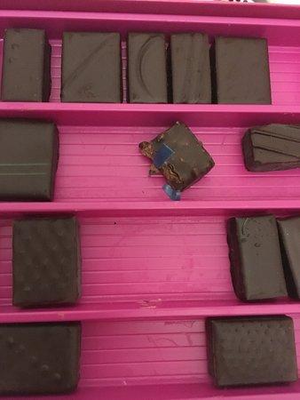 Plastique dans le chocolat