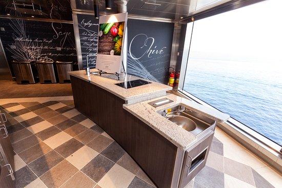 Culinary Arts Kitchen on Seven Seas Explorer