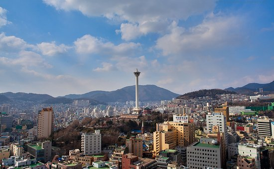 You can see Busan tower in this picture.