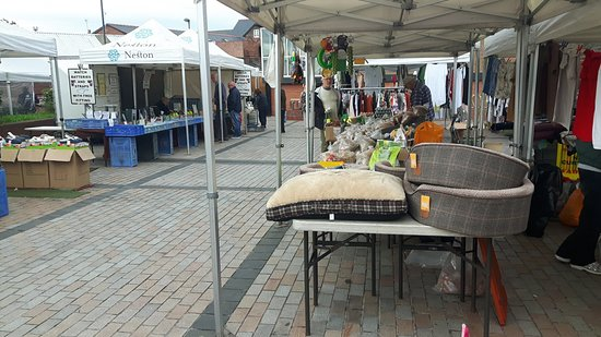 Neston, UK: Traders stalls at Neston Market
