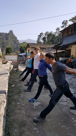 Kamala Yoga Nepal: Lunch break stretch!