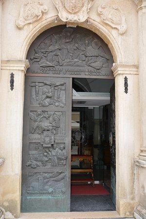 Varazdin, Kroatia: The door of the Cathedral