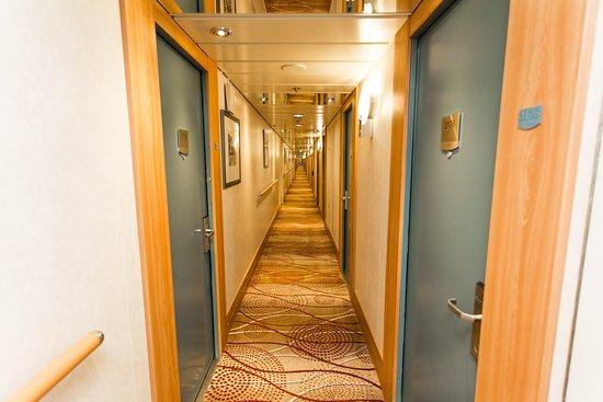 Hallways on Celebrity Infinity