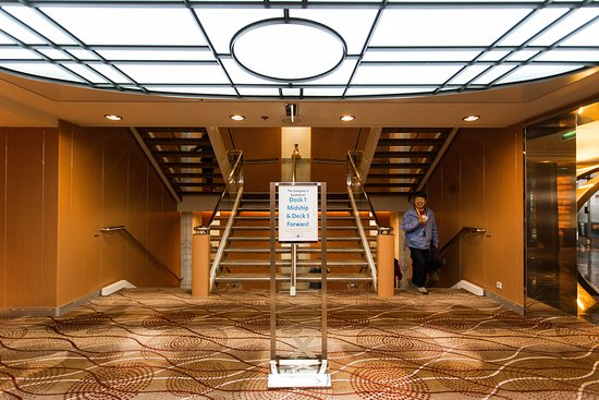 Stairs on Celebrity Infinity