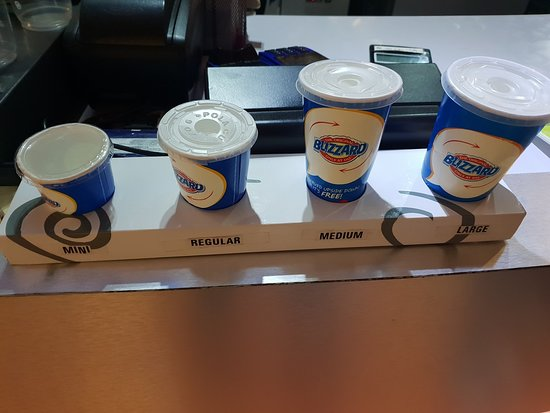 Dairy Queen: Different Serving sizes