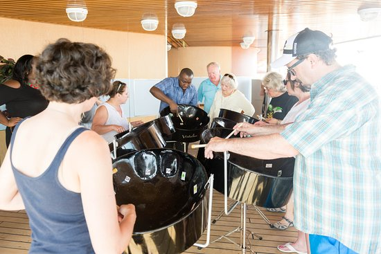 Steel Drums Class on Oosterdam