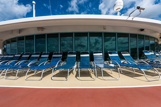 The Sun Deck on Adventure of the Seas