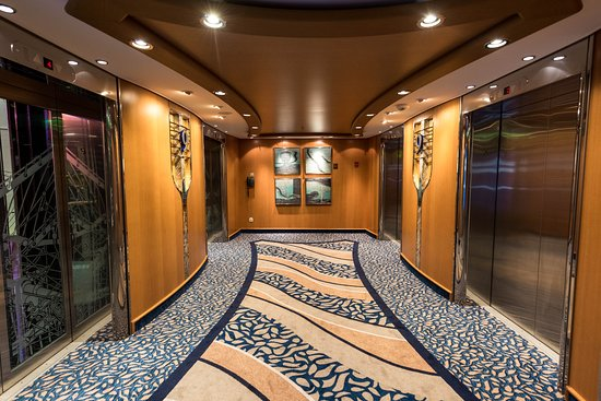 Elevators on Adventure of the Seas