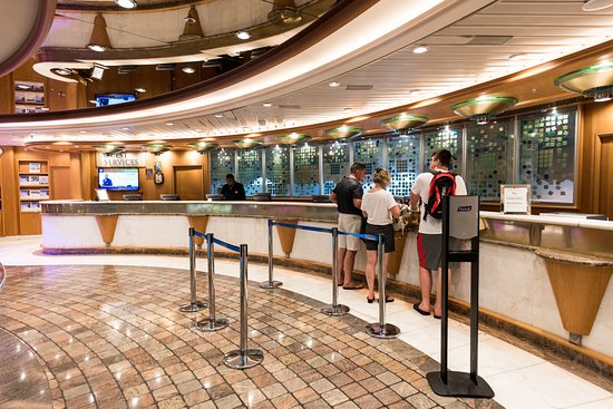 Passenger Services Desk on Adventure of the Seas