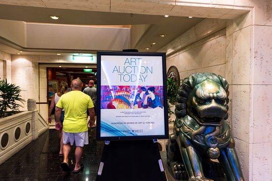 Art Auction on Adventure of the Seas