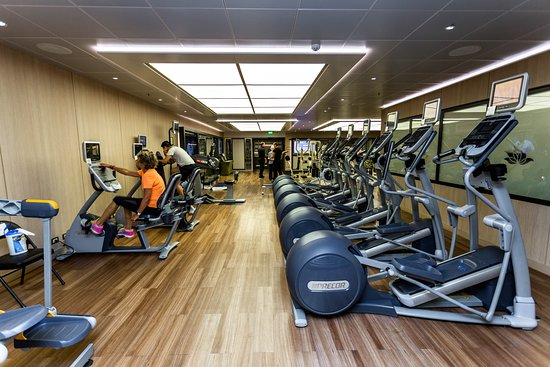 Fitness Center on Island Princess
