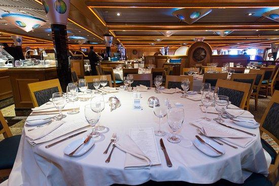 Destiny Dining Room on Carnival Paradise