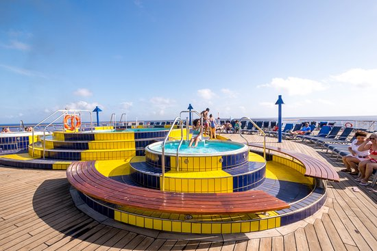 The Aft Pool on Carnival Paradise