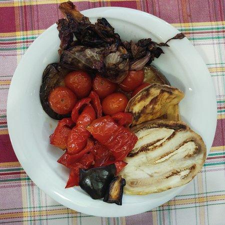 Guarnición de verduras al grill