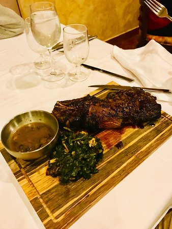 A picture from my favorite Steak Restaurant in the property, El Dorado!!! to die for meal, excellent quality try the Cowboy Steak. This was more the 10 oz!