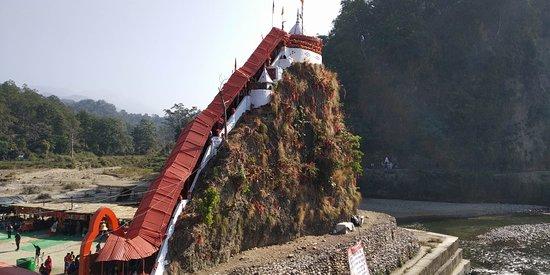 Side view of Garjiya Devi Temple