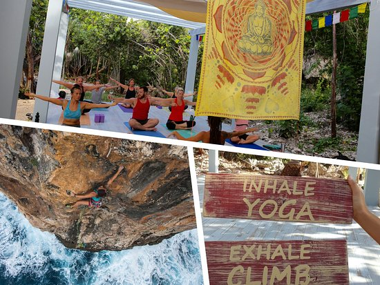 Rock Iguana now offers Yoga in Cayman Brac! Inhale Yoga, Exhale Climb!