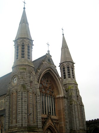 Mary Immaculate Church: Grand conical spires