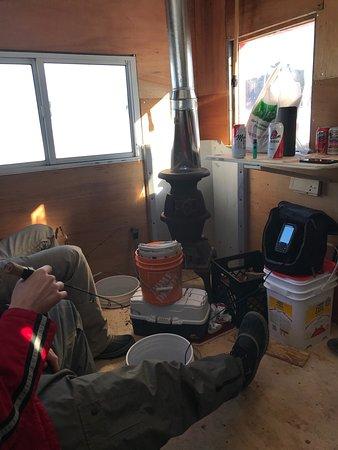Algonquin Highlands, Kanada: Inside Ice Hut