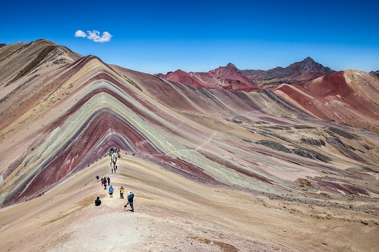 Cusco Region, Peru: Vinicunca - The Rainbow mountain - Cusco.