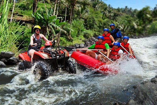 Excursion en quad et rafting en eaux...