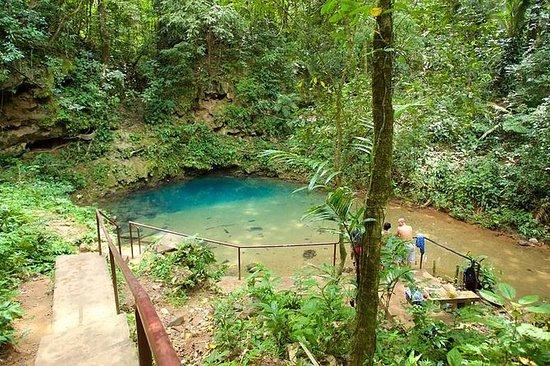 Cave Tubing und Schwimmen im Inland...