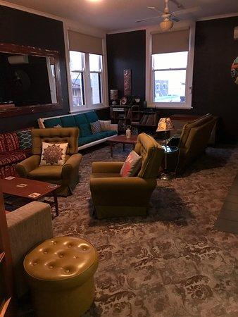 The communal sitting room