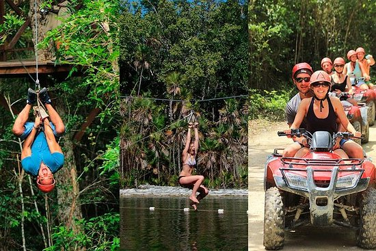 Adrenaline rush with ATV's, Zipline...