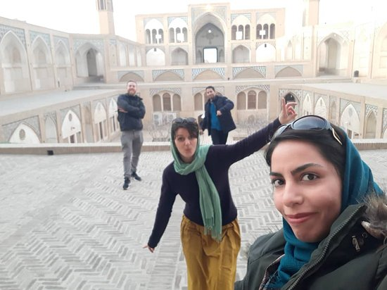 Visiting Agha Bozorg Mosque in Kashan