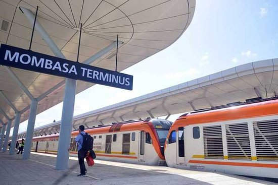 Kenya Railways: Mombasa Terminus: SGR Madaraka Express Train