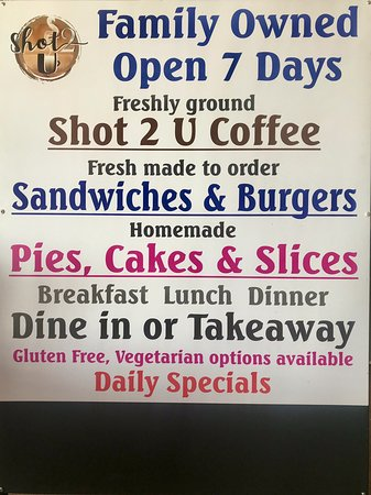 Shot 2 U Coffee Shop Cafe