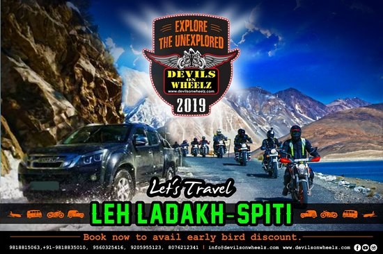 People don't notice whether it's winter or summer when they're happy....  Drop your contact details to avail early bird discount Road Trip to Leh Ladakh & Spiti Season 2019.  Action begins from April 2019. 16 days: Delhi-Spiti-Leh-Srinagar-Delhi 08 days: Delhi-Spiti-Manali 15 days: Delhi-Srinagar-Dah Hanu-Leh-Turtuk-Sumur-Tsomoriri-Manali-Delhi 13 days: Delhi-Manali-Leh-Tsomoriri-Hanle-Kargil-Srinagar 12 days: Srinagar-Leh-Turtuk-Tsomorir-Manali 07 days-Ex Leh Devilsonwheelz.com,  PH: 9818815063