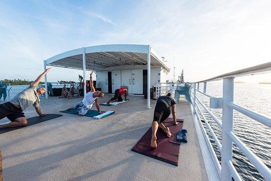 Sunrise Yoga on Safari Voyager