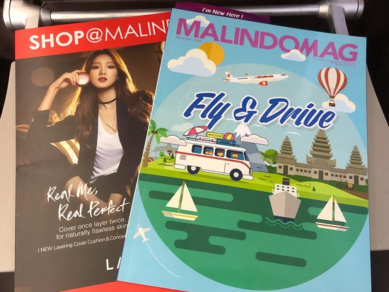 Malindo Air: Seat pocket contents