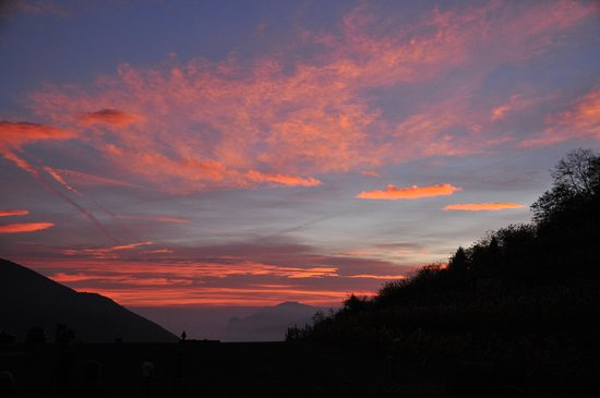 Pannone, Italy: Il tramonto...