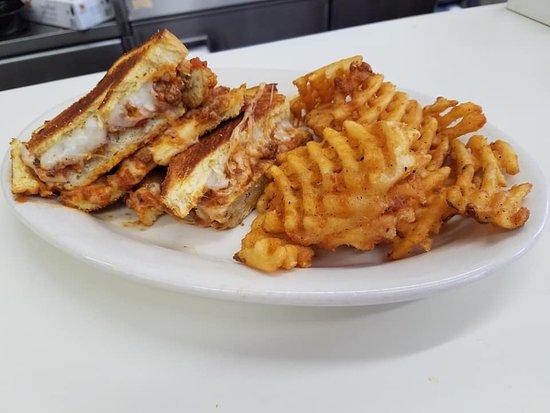 Chicken Parm Sandwich w/ Waffle Fries