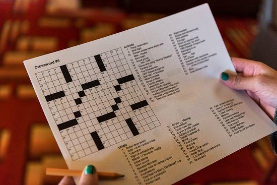 Crosswords at Maltings Beer & Whiskey Bar on Norwegian Pearl