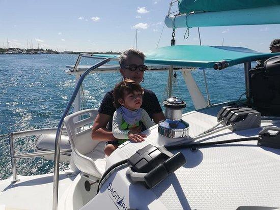muy divertido navegar en el Sagitario! Gracias Capitán