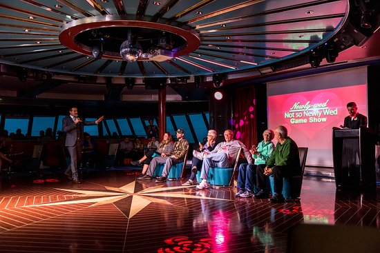Not So Newly Wed Game Show at Spinnaker Lounge on Norwegian Pearl