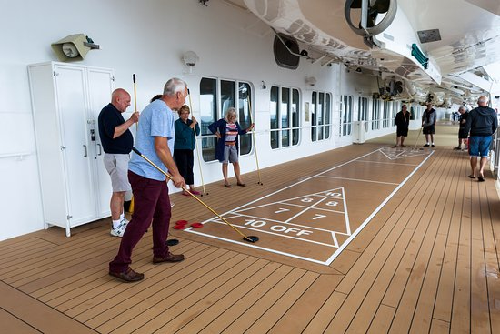 Shuffleboard on The Promenade Deck on Norwegian Jade