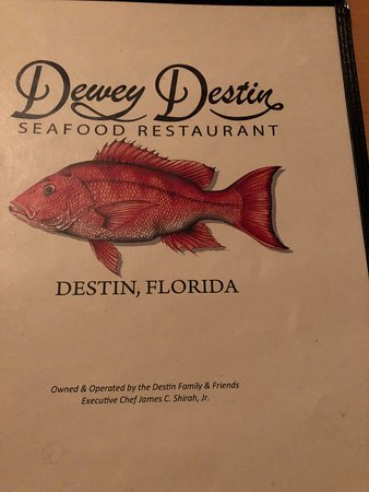 Dewey Destin Harborside: January 2019 MENU